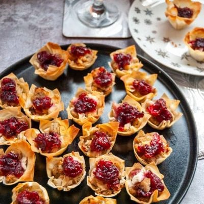 Turkey and Cranberry Filo Tarts