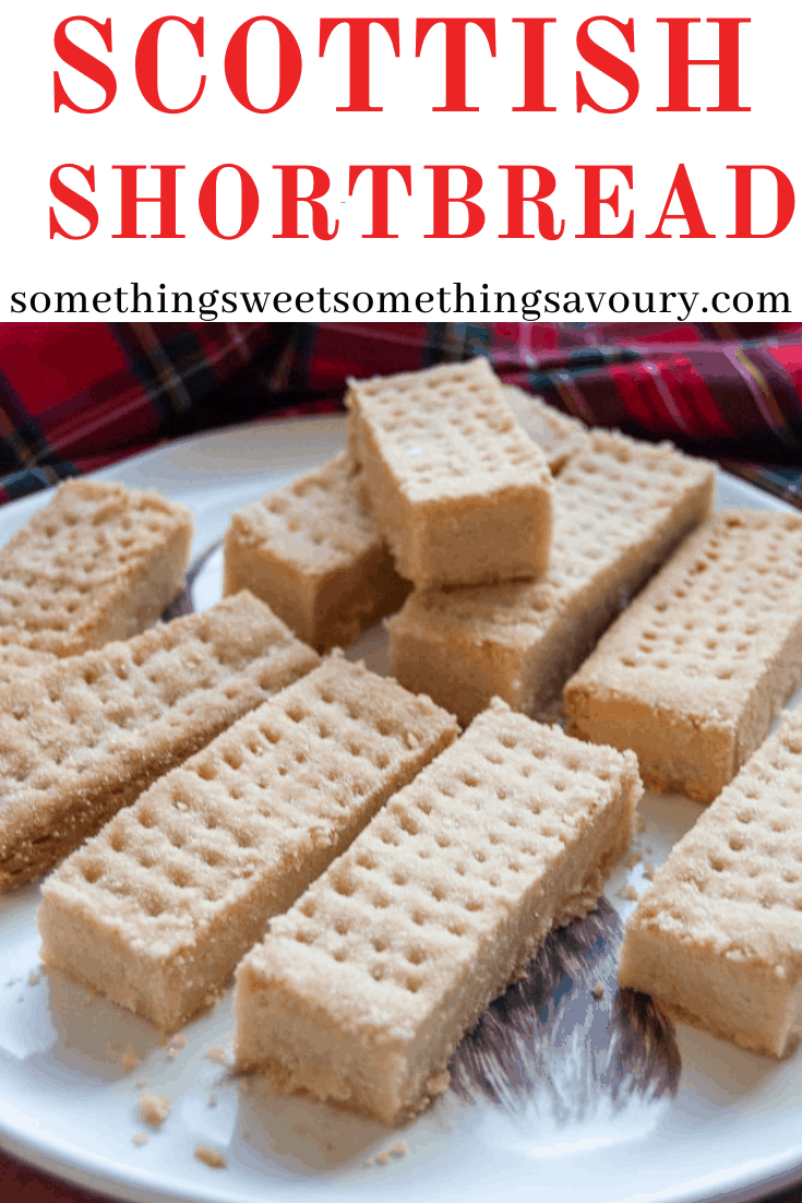 This homemade Scottish Shortbread Recipe is so much better than anything you can buy in the shops. It's buttery, crumbly, light and so easy to make at home. #scottishshortbread #scottishshortbreadrecipe #howtomakescottishshortbread #bestscottishshortbreadrecipe #burnsnightrecipes